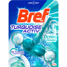 Bloc cuvette turquoise activ BREF WC, 50g