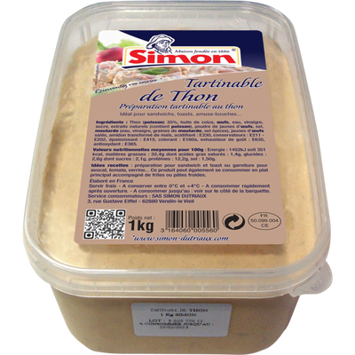 Tartinable de thon SIMON DUTRIAUX, 1kg