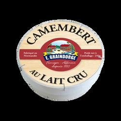 Camembert au lait cru 23% de matière grasse GRAINDORGE, 250G