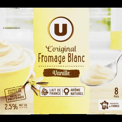 Fromage frais sucré lait pasteurisé saveur vanille 2,5%MG U 8x100g