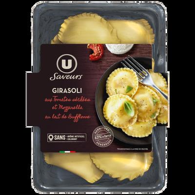 Girasoli aux tomates séchées et mozzarella au lait de bufflonne U SAVEURS, 250g