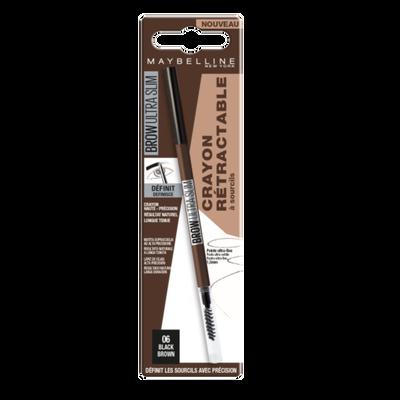 Brow ultra slim 06 black brown blister MAYBELLINE