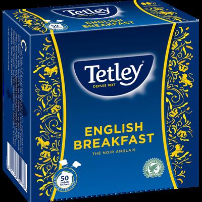 """Thé Anglais TETLEY, 50 sachets """"Tir'Press"""", 100g"""