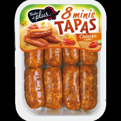 Mini tapas saucisse chorizo, TENDRE ET PLUS, barquette, 320g