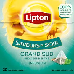Infusion du grand sud saveurs du soir LIPTON, sachet de 32g x20