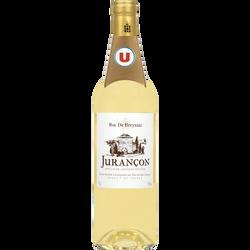 Vin blanc  AOP Jurançon doux Roc de Breyssac U, bouteille de 75cl