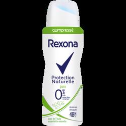 Déodorant protection naturelle pure REXONA, atomiseur 100ml