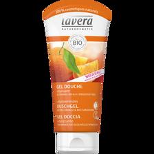 Gel douche vitalisant à l'orange bio et argousier bio peaux normales sans paraben LAVERA, 200ml