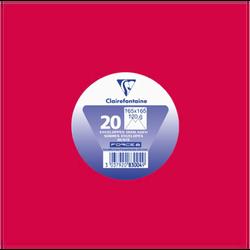 Enveloppe gommée carrée CLAIREFONTAINE, 165x165mm, rouge, 120g, 20 unités