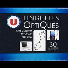 Lingettes nettoyante pour lunettes U, x30