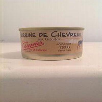 terrine de chevreuil aux girolles teyssier 130g