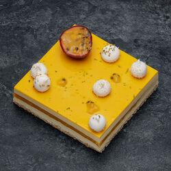 Entremets passion vanille décongelé, 4 pièces, 740g