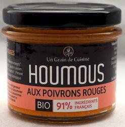 Houmous aux poivrons rouges, BIO, LES SAVEURS DE CHARLOTTE, pot 110g