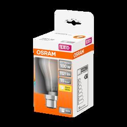 Ampoule led filament OSRAM ronde 100W culot B22 blanc chaud