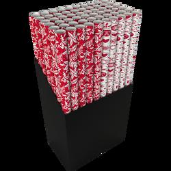 Rouleaux de papier 55gr 300x70cm rouge/blanc-dessins assortis