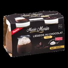 Liégeois au chocolat noir MARIE MORIN, 2x130g