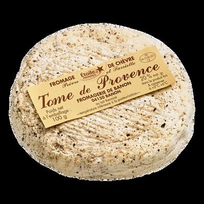 Tome de Provence au lait thermisé, tempétature inférieure à la pasteurisation, 23% M.G.
