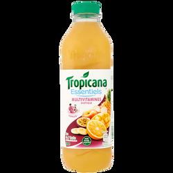 Jus de fruits exotiques Multivitamines sans sucre ajouté TROPICANA Essentiels, 1l