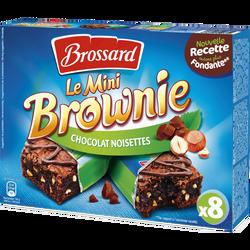 Mini brownies chocolat aux noisettes BROSSARD, x8, 240g