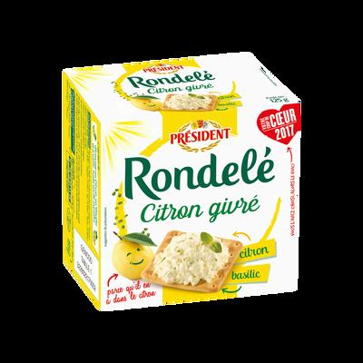 Rondelé citron et basilic lait pasteurisé 30% de MG PRESIDENT, 125g