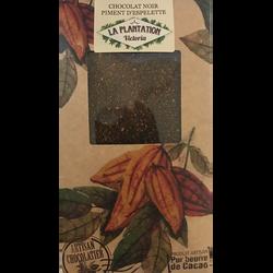 Chocolat noir piment d'Espelette, LA PLANTATION BOVETTI, tablette de 80g