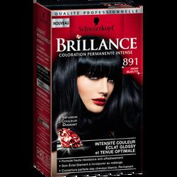 Coloration crème permanente BRILLANCE, noir bleuté n°891