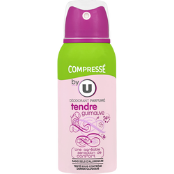 Déodorant compressé pour femme parfum tendre guimauve BY U, atomiseurde 100ml
