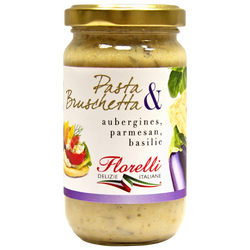 Pasta&bruschetta aubergine, parmesan et basilic FLORELLI,190g