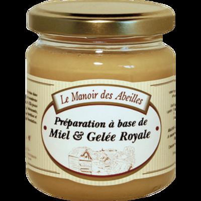 Miel et gelée royale LE MANOIR DES ABEILLES, pot de 250g