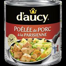 Poêlée de porc la parisienne D'AUCY, boîte 1/2 de 290G