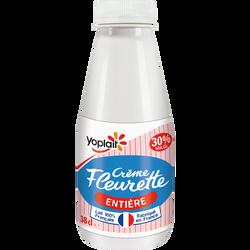 Crème fraîche fluide entière Fleurette YOPLAIT,  30% de MG, 38cl