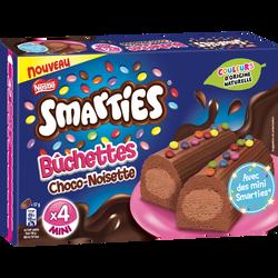Bûchettes smarties chocolat noisette NESTLE, 4x57g soit 228g