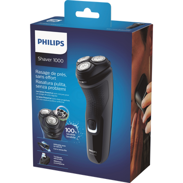 Philips Rasoir Philips Séries 1000 S1231/41-utilisable À Sec-poignéeergonomique Pour Manipulation Facile-système Powercut-têtes Flexibles4 Direc.-40 Min D'autonomie-8h De Charge