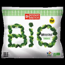 Brocolis cuits bio PAYSAN BRETON, sachet de 500g