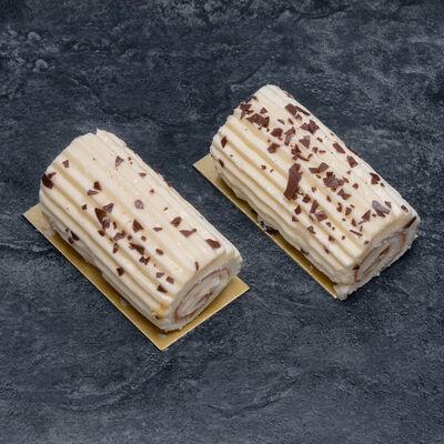 Bûchette crème au beurre vanille décongelé, 2 pièces, 150g