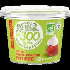 Crème fraiche épaisse LES 300 & BIO, 30% de MG, pot de 50cl
