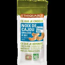 Noix de cajou grillées et salées Salvador Inde Côte d'Ivoire Bio ETHIQUABLE, 100g