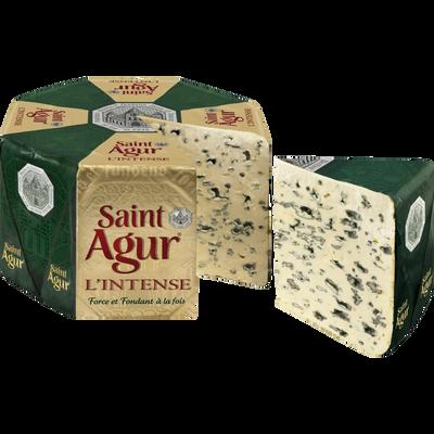 Fromage pasteurisé à pâte persillée ST AGUR intense 33%MG