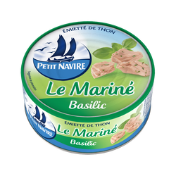 Thon mariné basilic PETIT NAVIRE, boîte 1/5, 110g