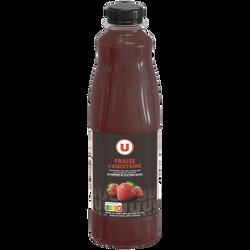 """Nectar de fraise d'Aquitaine """"fruits de chez nous"""" U, bouteille de 1l"""