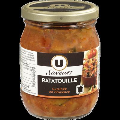 Ratatouille cuisinée en Provence U SAVEURS, bocal de 520g