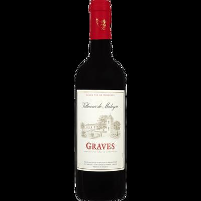 Vin rouge AOC Graves Villecour de Maleyre U, 75cl
