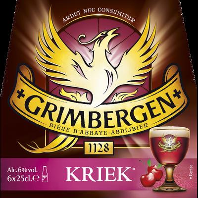 Bière Kriek, GRIMBERGEN, pack de 6 bouteilles de 25cl