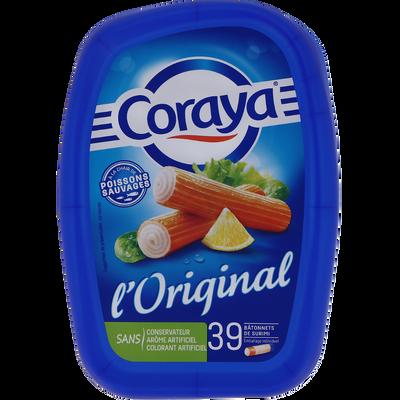 "Bâtonnets goût crabe ""Pleine Saveur"" CORAYA, 39 unités, 585g"