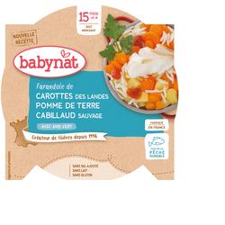 Aliment pour bébés - FARANDOLE DE CAROTTE DES LANDES POMME DE TERRE CABILLAUD SAUVAGE À L'ANIS - BIO - BABYBIO - 15 mois et + - 260g