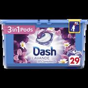 Dash Lessive Lavande Et Camomille Dash 3en1, 29 Pods Soit 765,6g