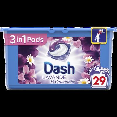 Lessive lavande et camomille DASH 3EN1, 29 pods soit 765,6g