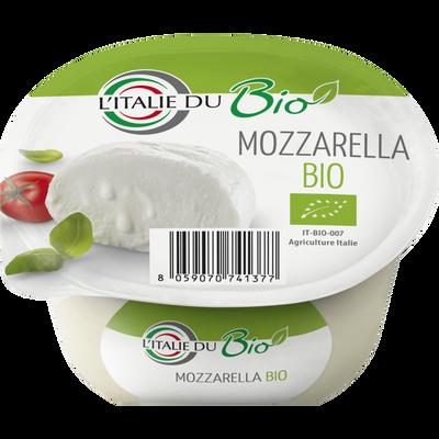Mozzarella, BIO, lait pasteurisé, 17%mat.gr, 125g