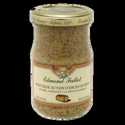 Moutarde au pain d'epices de Dijon EDMOND FALLOT, bocal 10cl