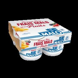 Fromage frais sur lit de fruits, MALO, 7% de MG, 4x100g
